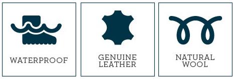 kobi, e-kobi, EMU AUSTRALIA ikony Waterproof, Genuine Leather, Natural Wool