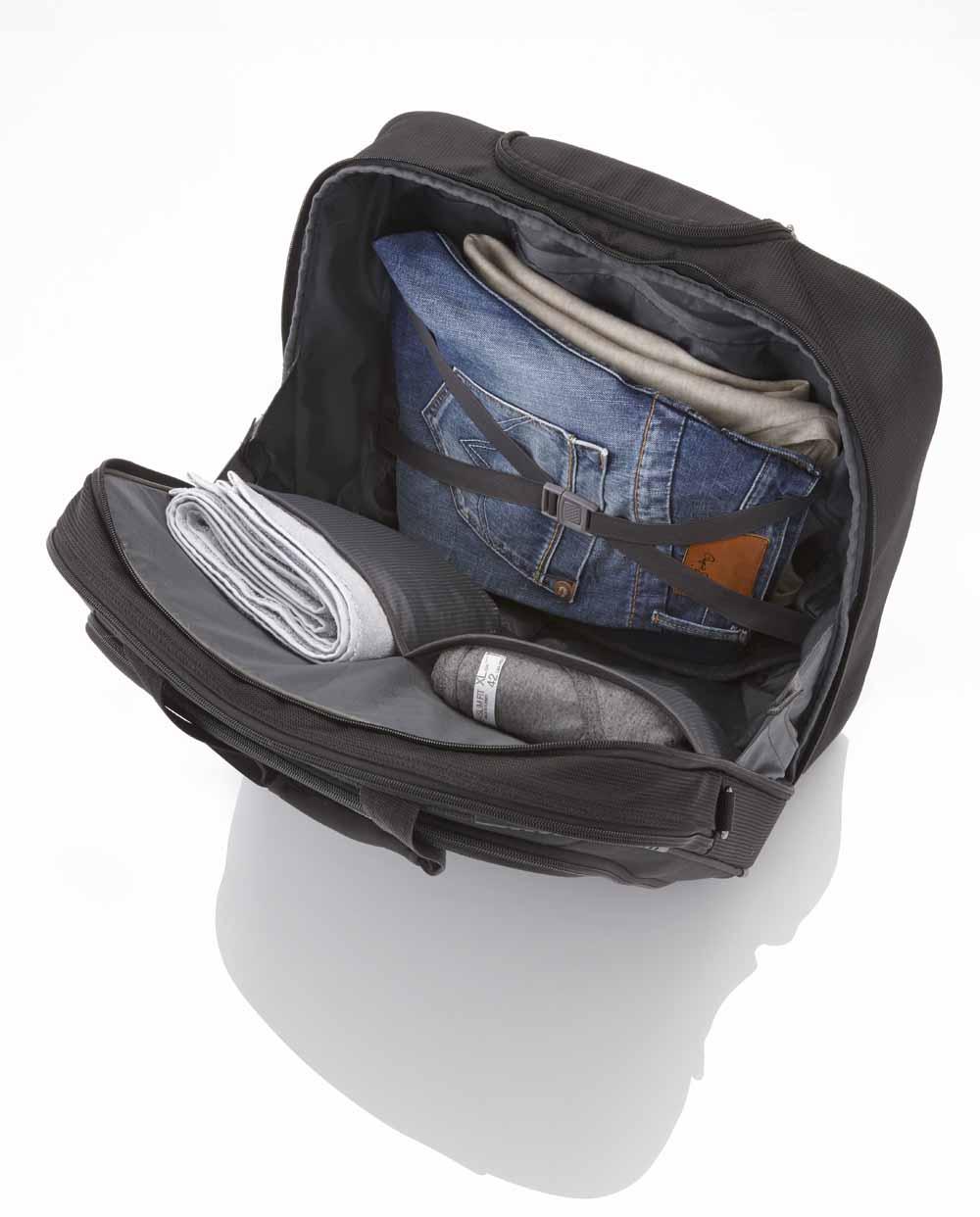 89506 TRAVELITE CROSSLITE Torba podróżna - pilotka na laptopa do 17 42L Schwarz, zdjęcie szczegółu
