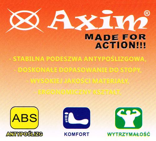 kobi, e-kobi, graficzne przedstawienie zalet obuwia firmy AXIM