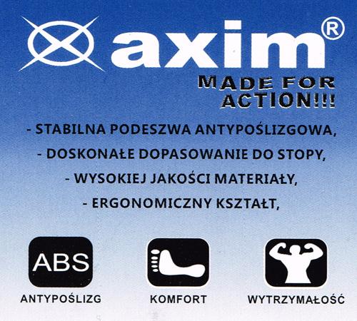 kobi, e-kobi, graficzne przedstawienie zalet obuwia tekstylngo firmy AXIM