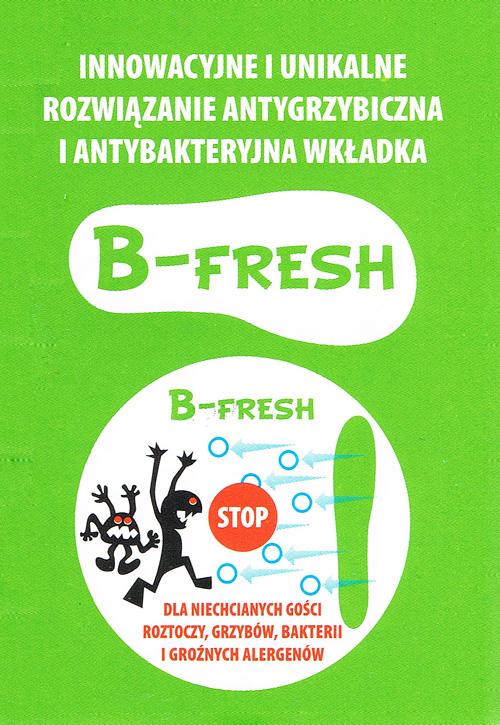 kobi, e-kobi, graficzne przedstawienie własności wkładki B-FRESH firmy BARTEK