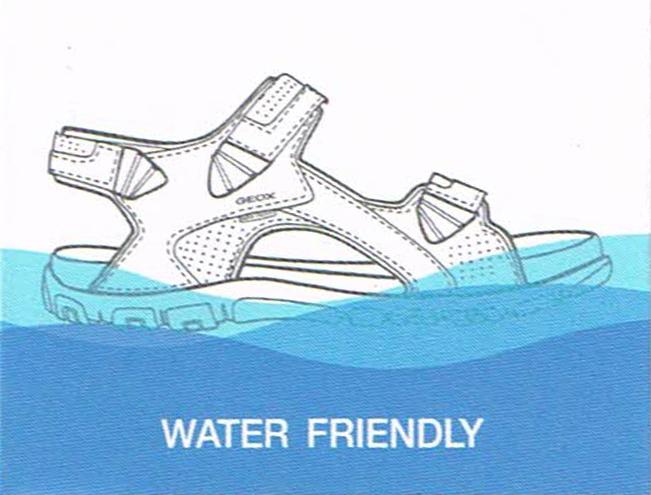 kobi, e-kobi, graficzne przedstawienie budowy technologi Water Friendlyfirmy  GEOX RESPIRA