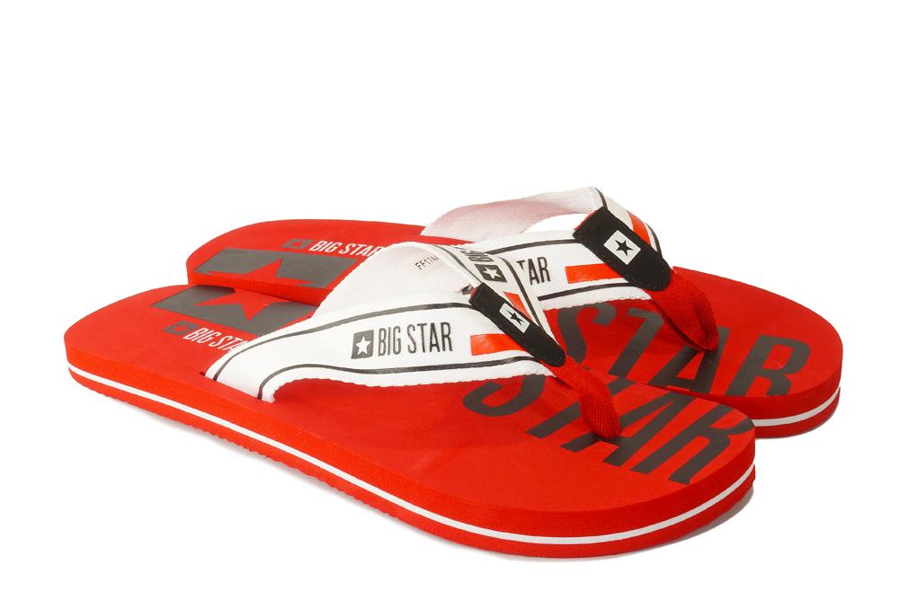 BIG STAR FF174451 czerwony, klapki, japonki męskie, sklep internetowy e-kobi.pl