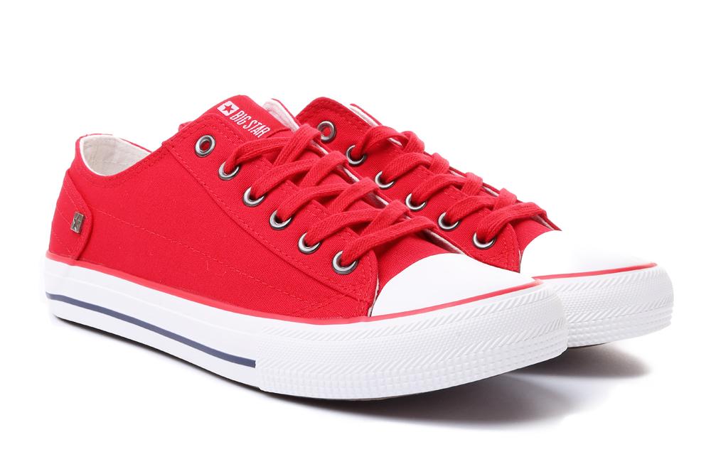BIG STAR DD274339 czerwony, półtrampki damskie, sklep internetowy e-kobi.pl