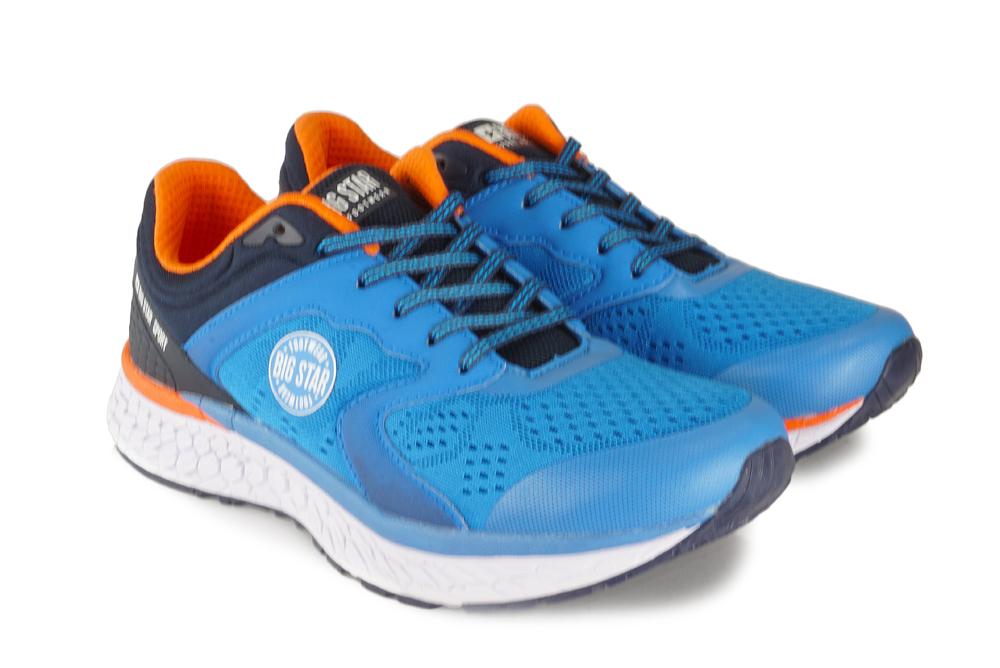 BIG STAR FF174228 niebieski/pomarańczowy, półbuty sportowe męskie, sklep internetowy e-kobi.pl