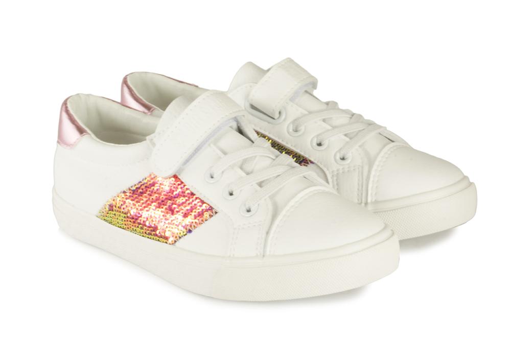 BIG STAR FF374080 biały/róż, półbuty dziecięce, rozmiary 28-35, sklep internetowy e-kobi.pl