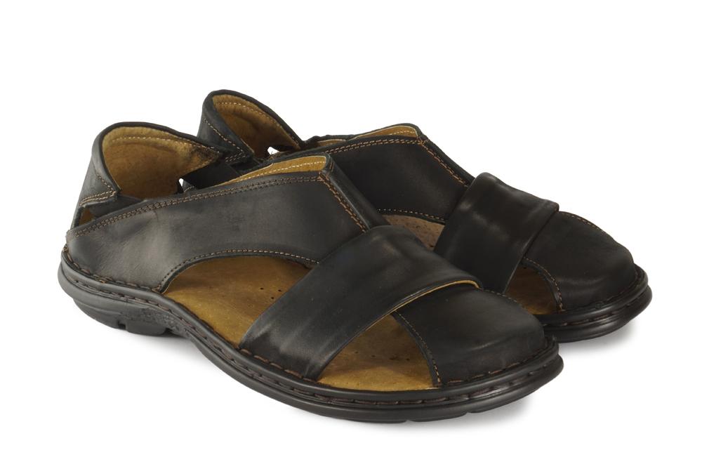 ENZO PERUZZI 689 lico 757 czarny, sandały męskie, sklep internetowy e-kobi.pl