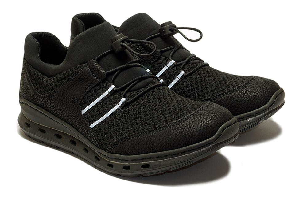 RIEKER L22X0-01 black, półbuty/sneakersy damskie, sklep internetowy e-kobi.pl