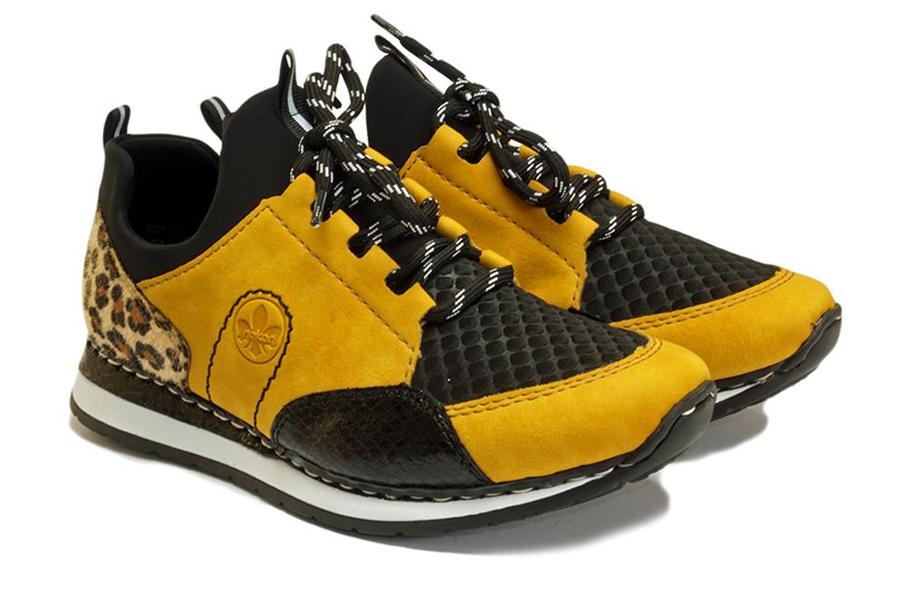 RIEKER N3083-68 yellow combination, półbuty damskie, sklep internetowy e-kobi.pl