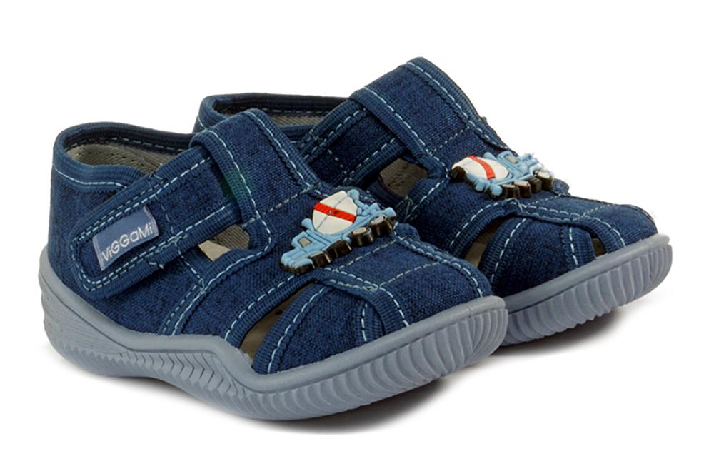 VIGGAMI KAROLEK OZDOBA jeans, kapcie dziecięce, rozmiary 20-25, sklep internetowy e-kobi.pl