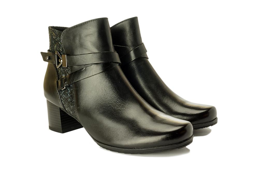CAPRICE 25336-25 019 black combination, botki damskie, sklep internetowy e-kobi.pl
