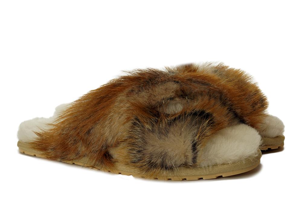 EMU AUSTRALIA W12378 MAYBERRY LAVA chestnut, kapcie damskie, sklep internetowy e-kobi.pl