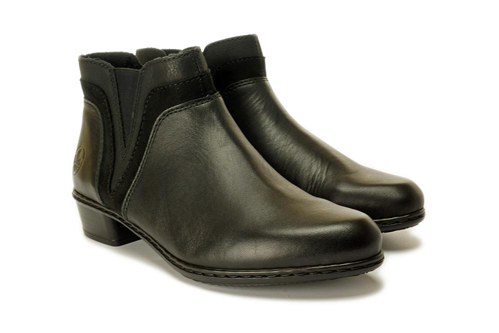 RIEKER Y07B2-02 black, botki damskie, sklep internetowy e-kobi.pl