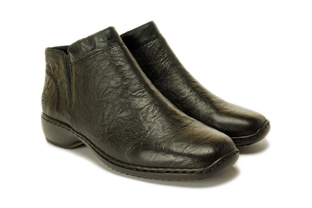 RIEKER L3881-00 black, botki damskie, sklep internetowy e-kobi.pl