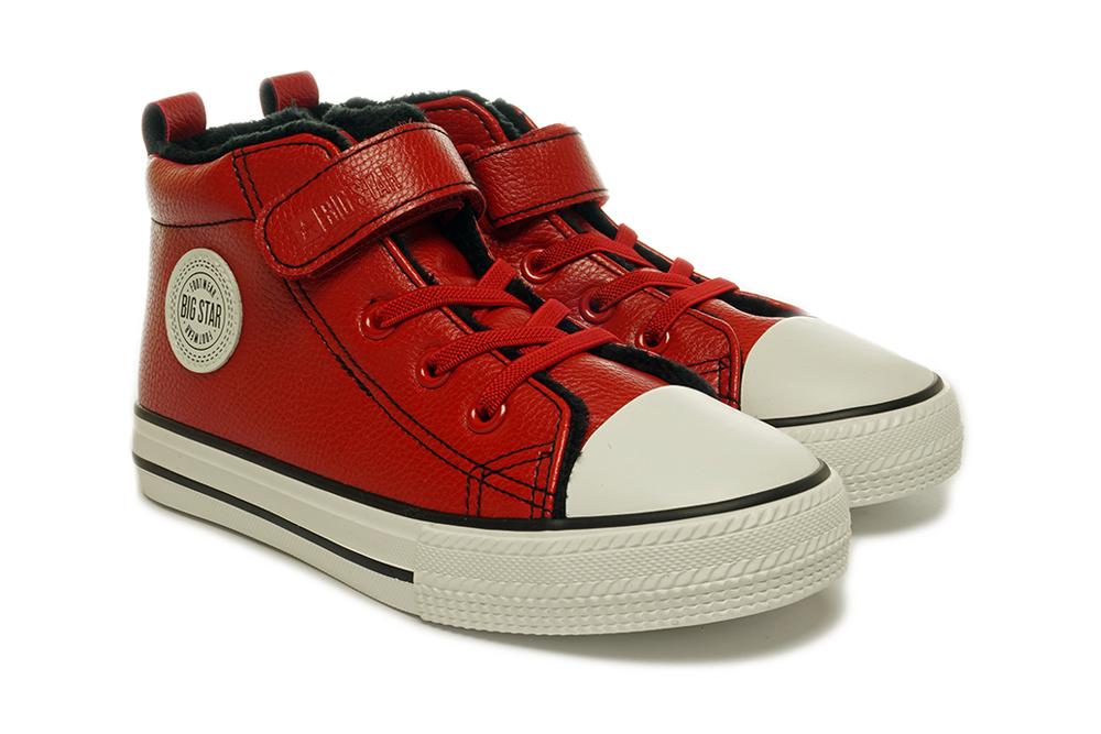 BIG STAR GG374034 czerwony, trzewiki, trampki dziecięce, rozmiary 30-35, sklep internetowy e-kobi.pl