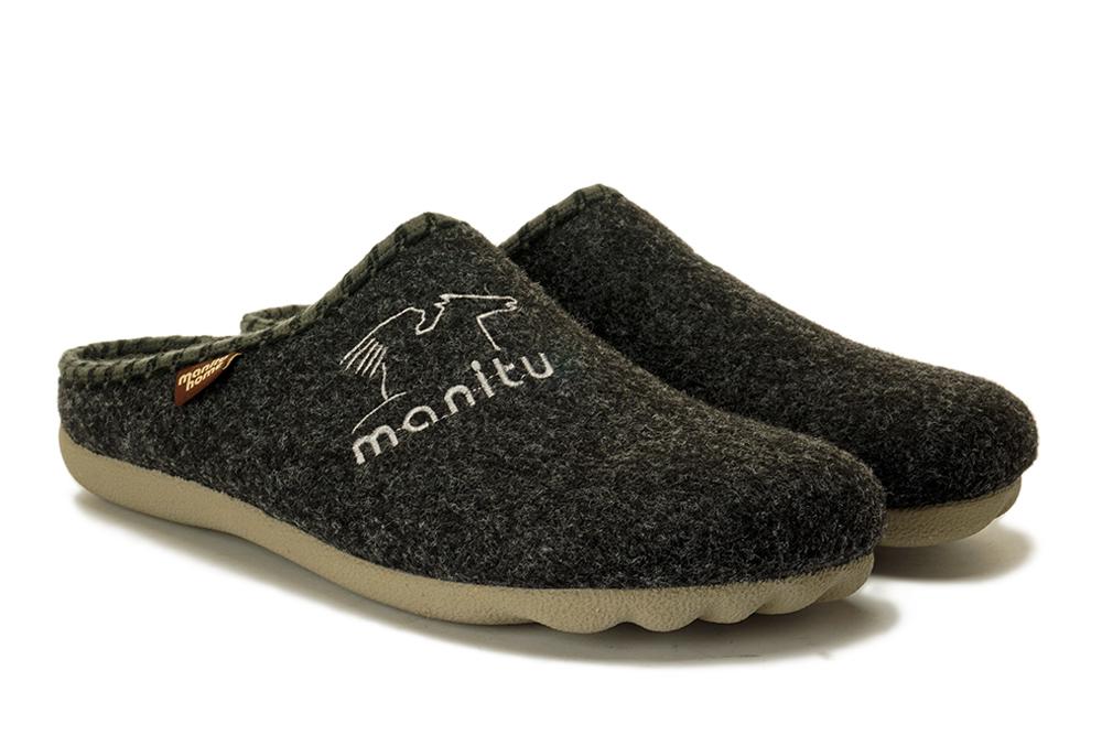 MANITU 220247-9 antrazit, kapcie męskie, sklep internetowy e-kobi.pl