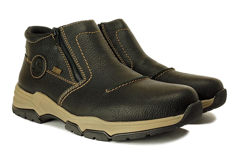 RIEKER TEX B4392-00 black, botki męskie, sklep internetowy e-kobi.pl