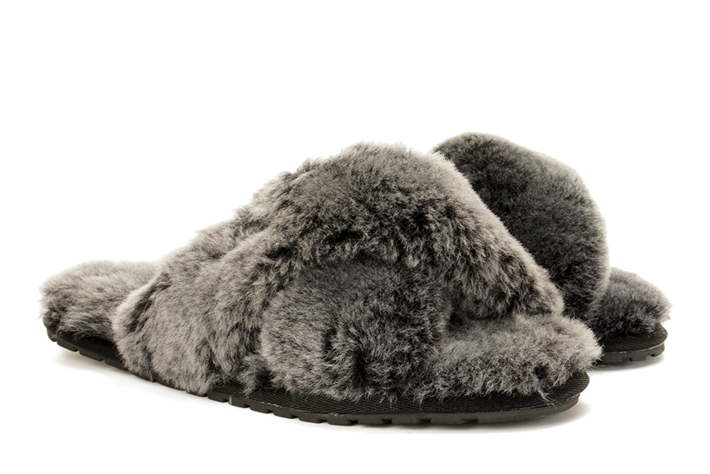 EMU AUSTRALIA W12013 MAYBERRY FROST black, kapcie damskie, sklep internetowy e-kobi.pl