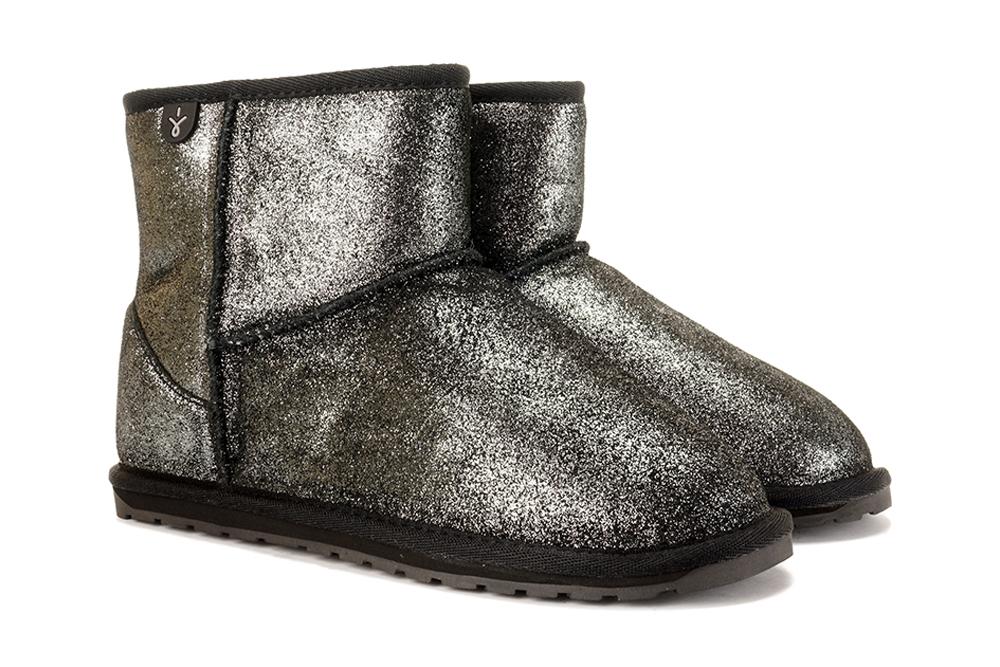EMU AUSTRALIA T12358 WALLABY MINI METALLIC TEENS black, botki damskie, sklep internetowy e-kobi.pl