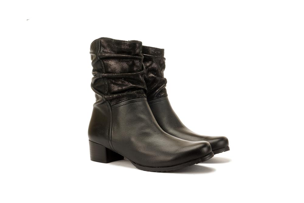 CAPRICE 25322-25 019 black combination, botki damskie, sklep internetowy e-kobi.pl