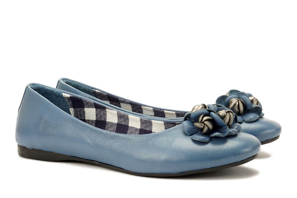 LANQIER 44C2875 niebieski, baleriny damskie, sklep internetowy e-kobi.pl