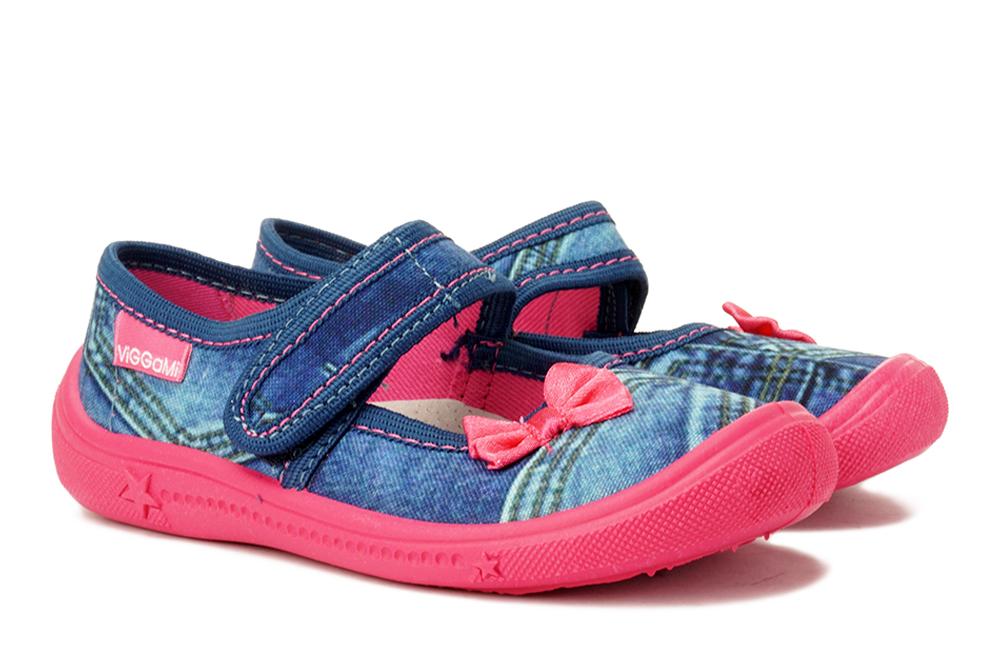 VIGGAMI JUSTYNA JEANS jeans/amarant, kapcie dziecięce, rozmiary 26-, sklep internetowy e-kobi.pl