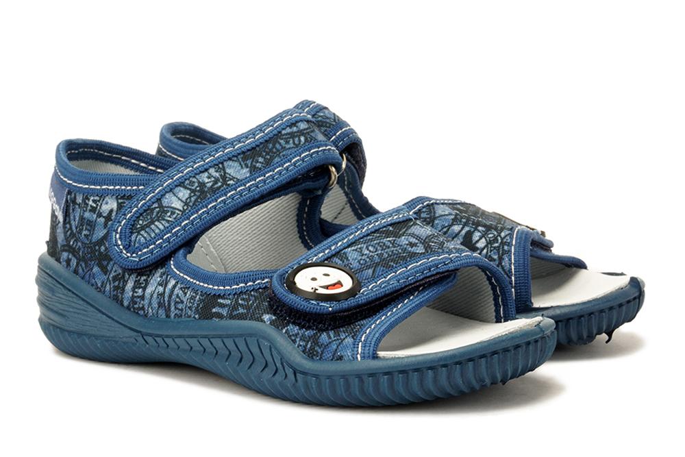 VIGGAMI STAŚ STEMPLE jeans, kapcie dziecięce, rozmiary 26-, sklep internetowy e-kobi.pl