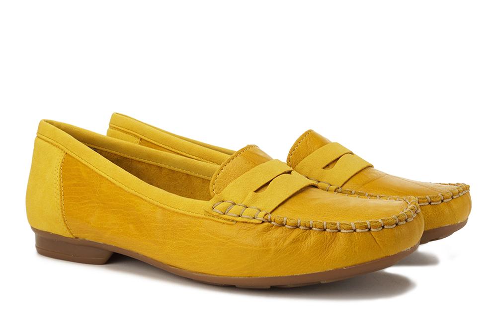 RIEKER 40054-68 yellow, półbuty/mokasyny damskie, sklep internetowy e-kobi.pl