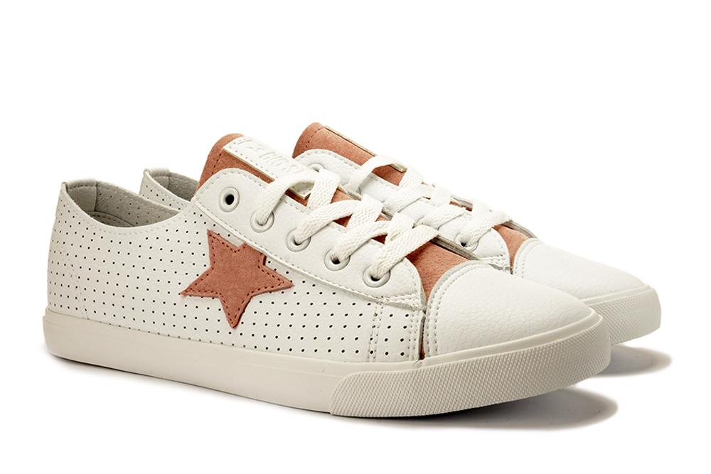 BIG STAR DD274691 biały/róż, półtrampki/półbuty damskie, sklep internetowy e-kobi.pl