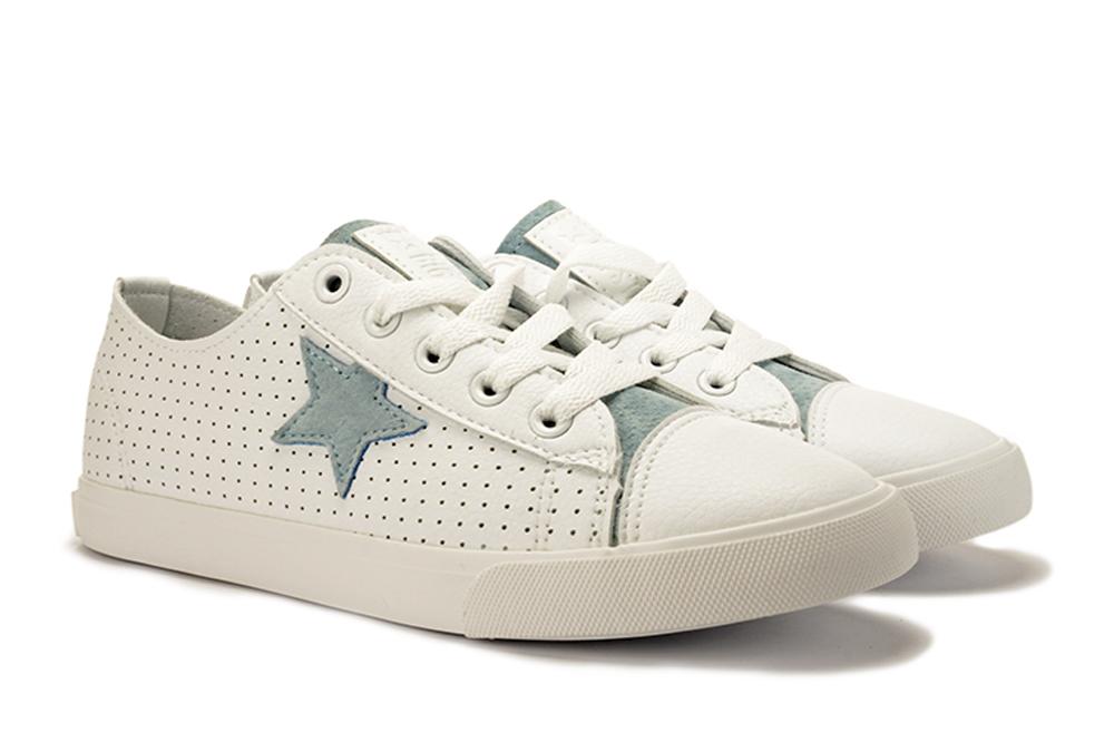BIG STAR DD274692 biały/niebieski, półtrampki/półbuty damskie, sklep internetowy e-kobi.pl