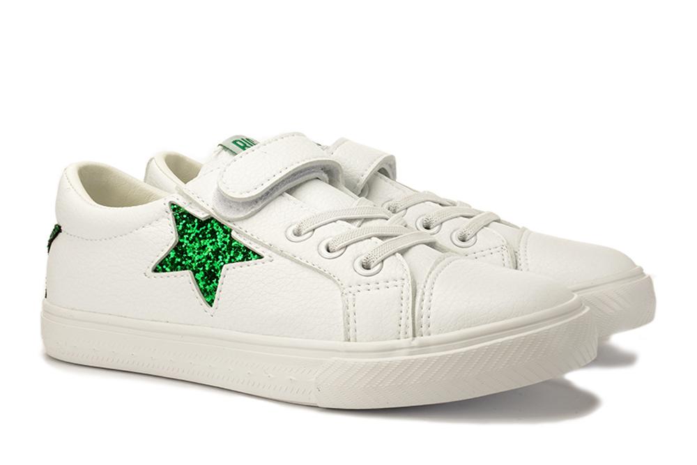 BIG STAR DD374103 biały/zielony, półbuty dziecięce, rozmiary 17-, sklep internetowy e-kobi.pl