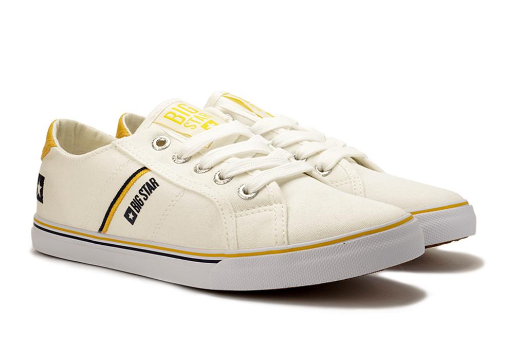 BIG STAR DD274894 biały/żółty, tenisówki damskie, sklep internetowy e-kobi.pl