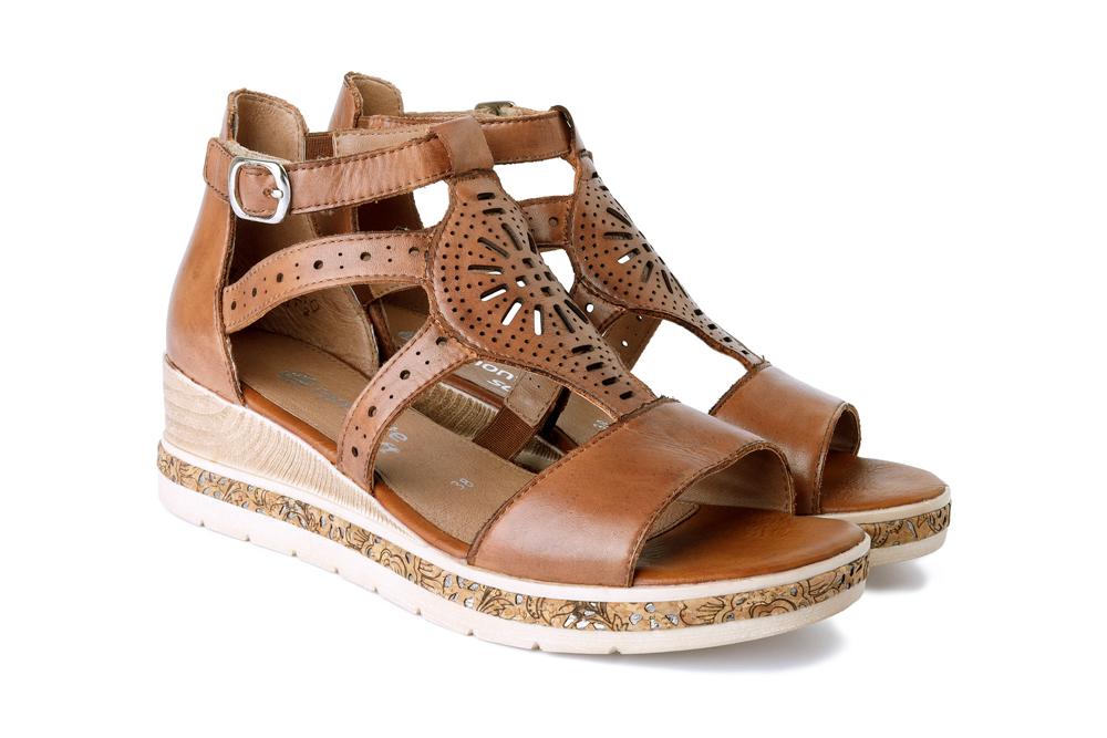RIEKER REMONTE D3053-24 brown, sandały damskie, sklep internetowy e-kobi.pl