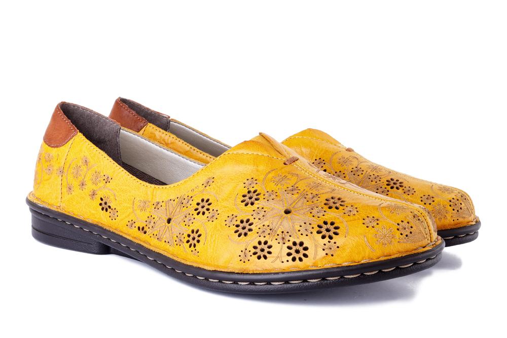 RIEKER 48456-68 yellow, półbuty damskie, sklep internetowy e-kobi.pl