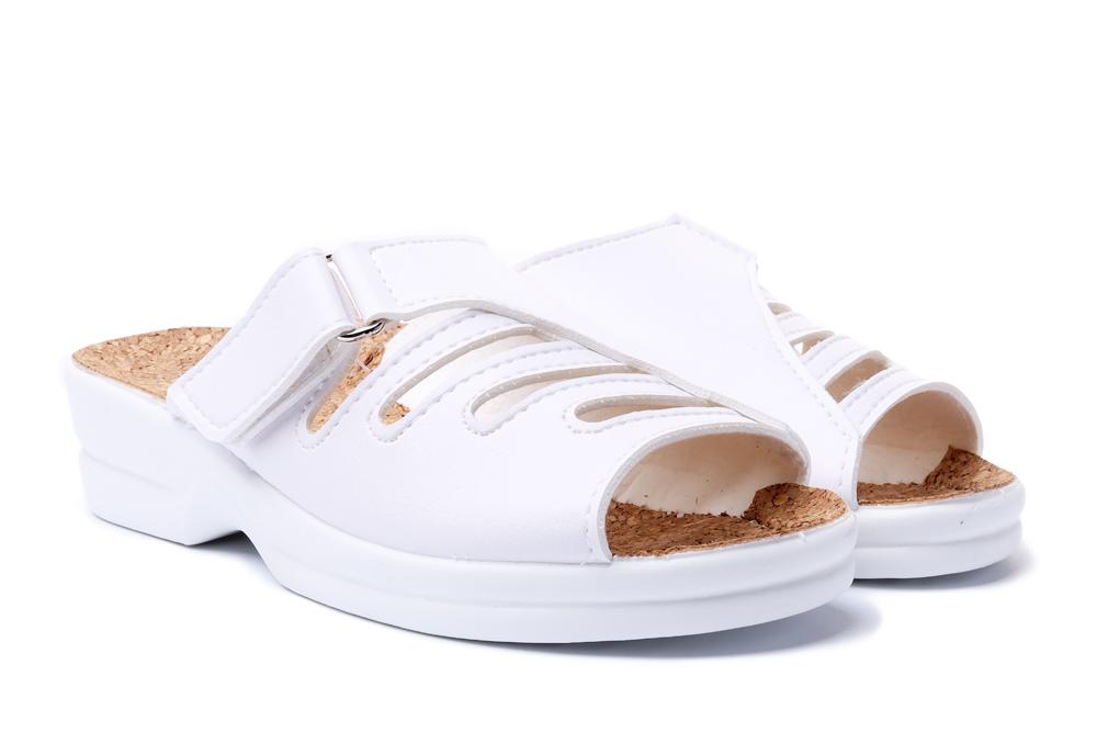 ADANEX ASK2 ASTRA 4902 BI/BI.L biały/biały lakierowany, kapcie damskie, sklep internetowy e-kobi.pl
