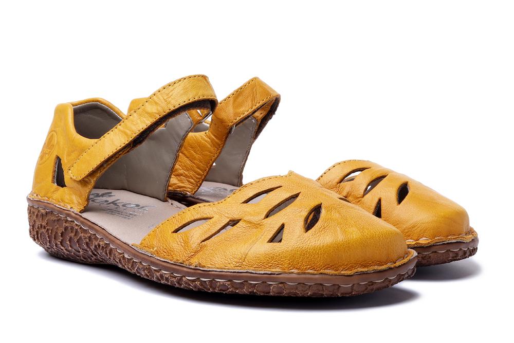 RIEKER M0967-68 yellow, sandały damskie, sklep internetowy e-kobi.pl