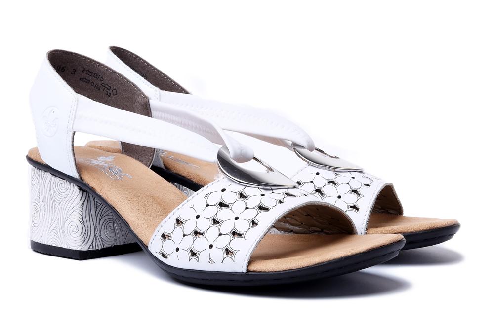 RIEKER 64677-80 white, sandały damskie, sklep internetowy e-kobi.pl