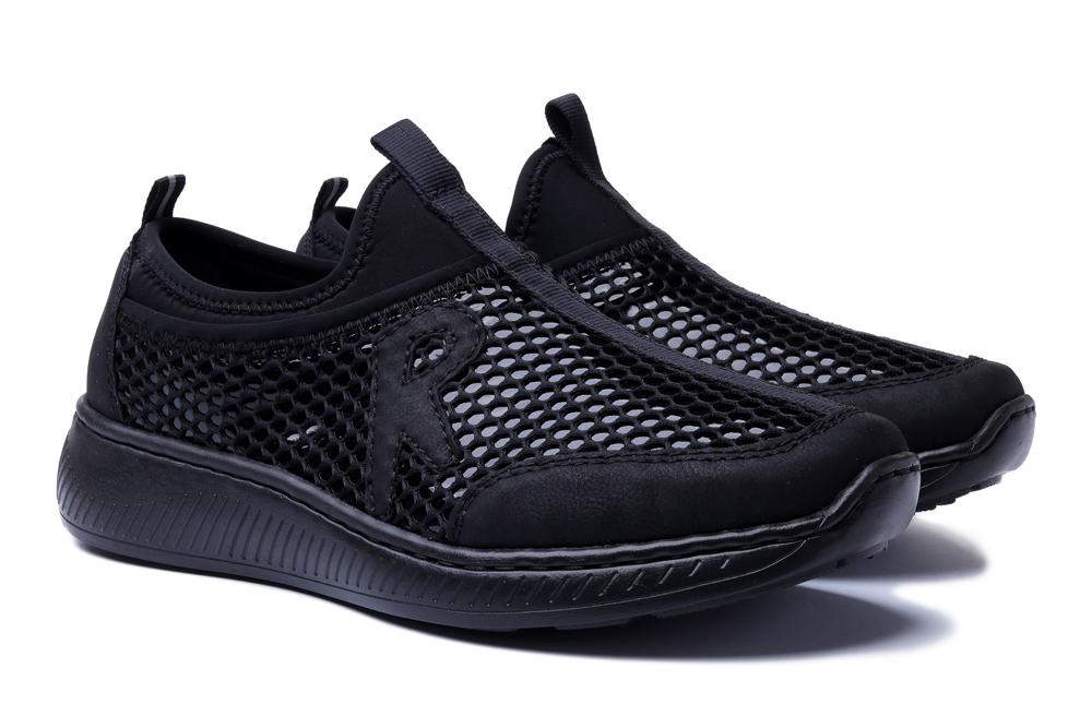 RIEKER N5544-00 black, półbuty damskie, sklep internetowy e-kobi.pl