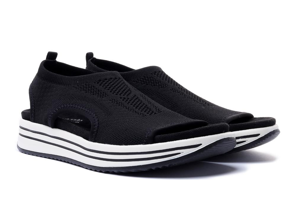 RIEKER REMONTE R2955-02 black, sandały damskie, sklep internetowy e-kobi.pl