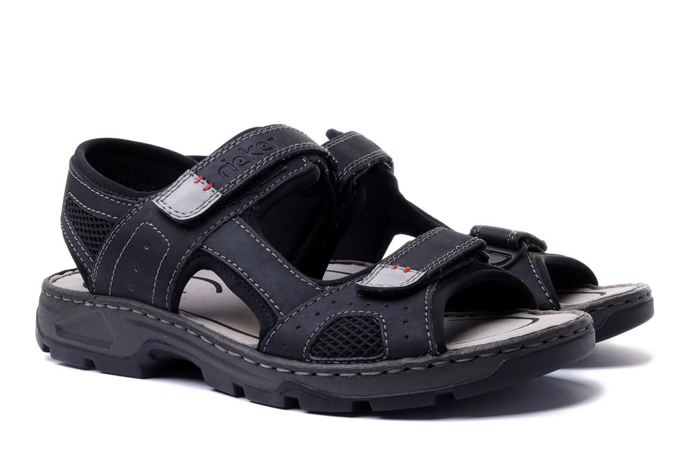 RIEKER 26156-02 black, sandały męskie, sklep internetowy e-kobi.pl