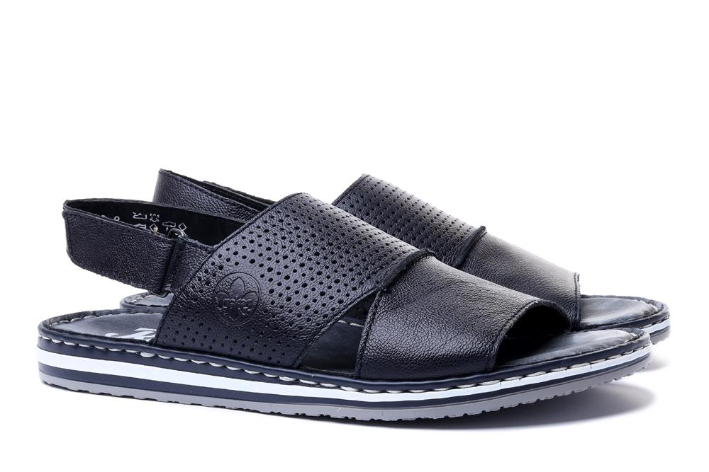 RIEKER 21566-14 blue, sandały męskie, sklep internetowy e-kobi.pl