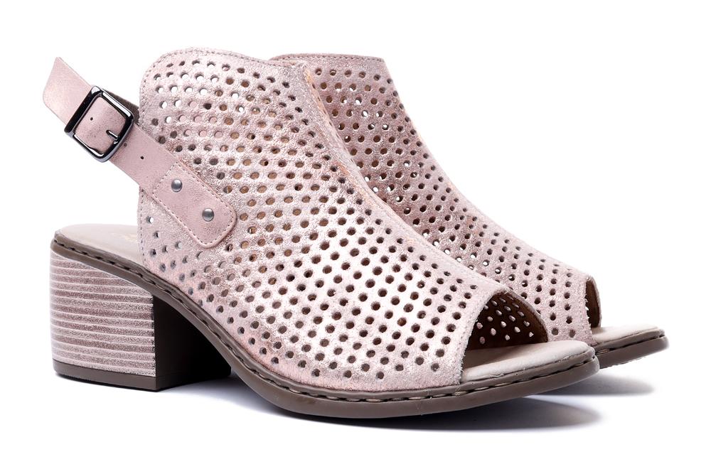 RIEKER V0590-31 rosa, sandały damskie, sklep internetowy e-kobi.pl