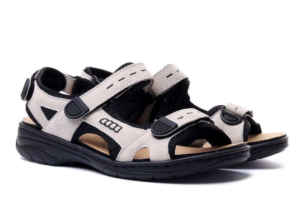 RIEKER 64582-60 beige, sandały damskie, sklep internetowy e-kobi.pl