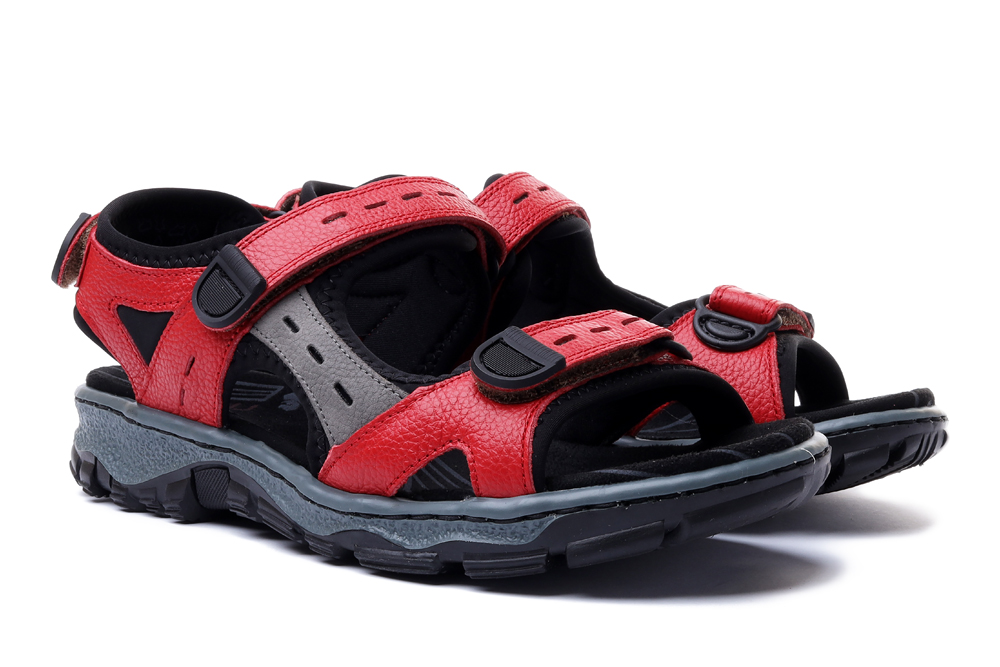 RIEKER 68872-33 red, sandały damskie, sklep internetowy e-kobi.pl