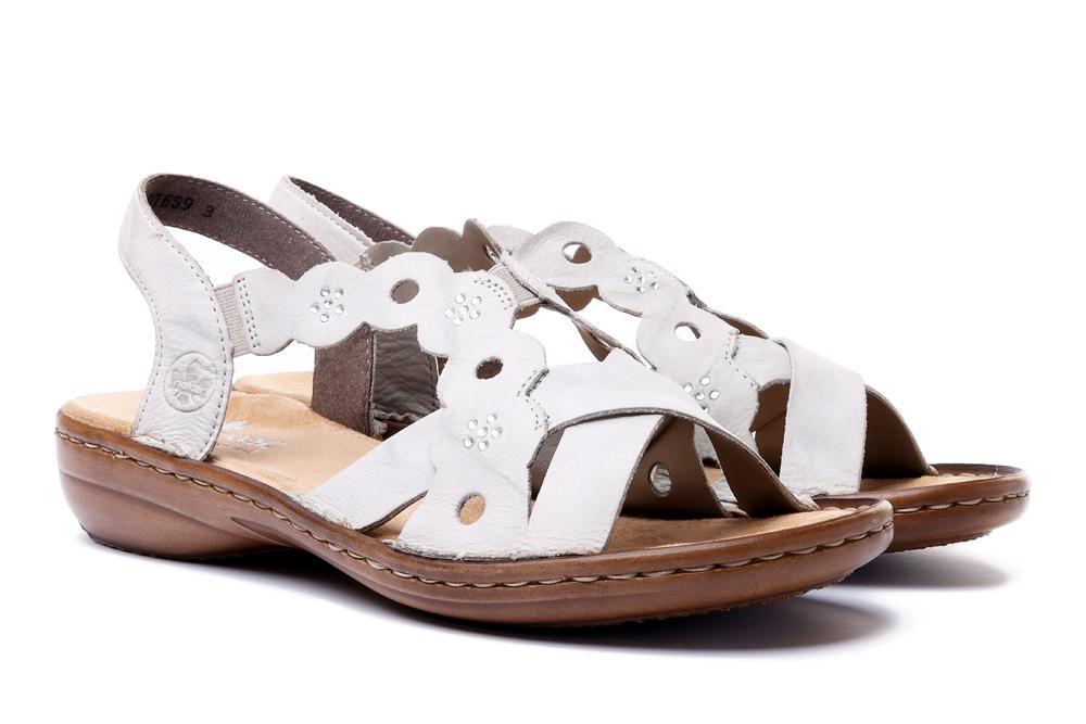 RIEKER 60865-60 beige, sandały damskie, sklep internetowy e-kobi.pl
