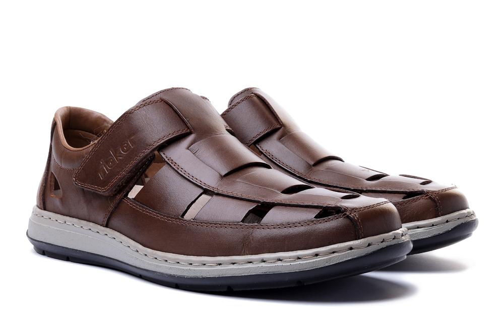 RIEKER 17387-25 brown, sandały męskie, sklep internetowy e-kobi.pl