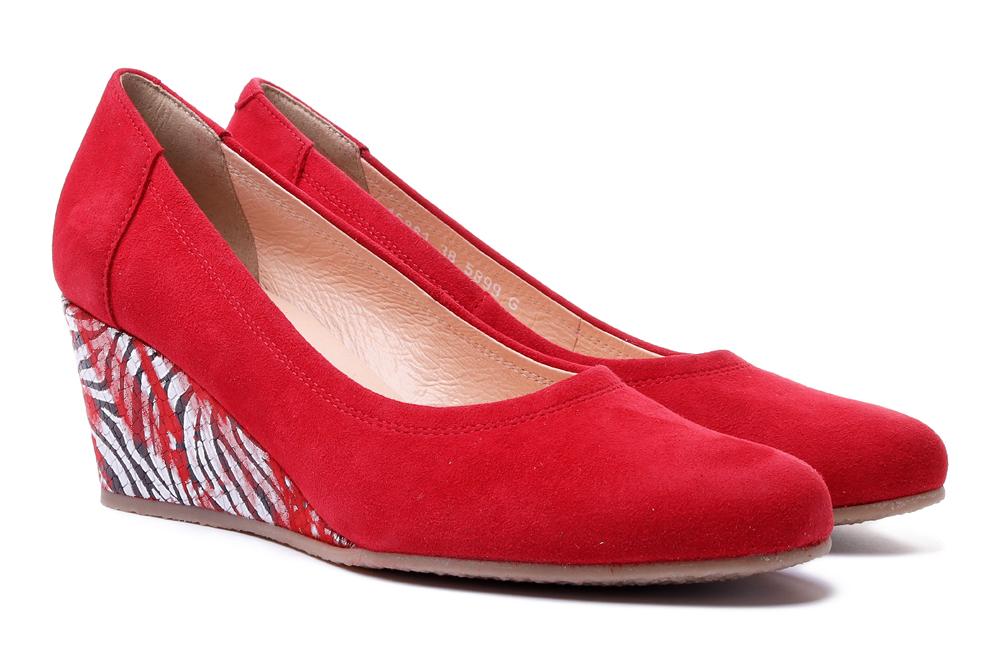 BIOECO BY ARKA 5899 1844+2120 czerwony, czółenka damskie, sklep internetowy e-kobi.pl