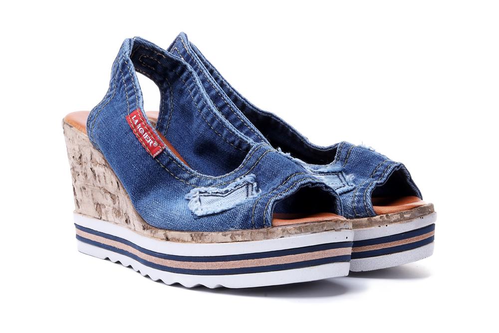 LANQIER 44C0246 jeans, sandały damskie, sklep internetowy e-kobi.pl