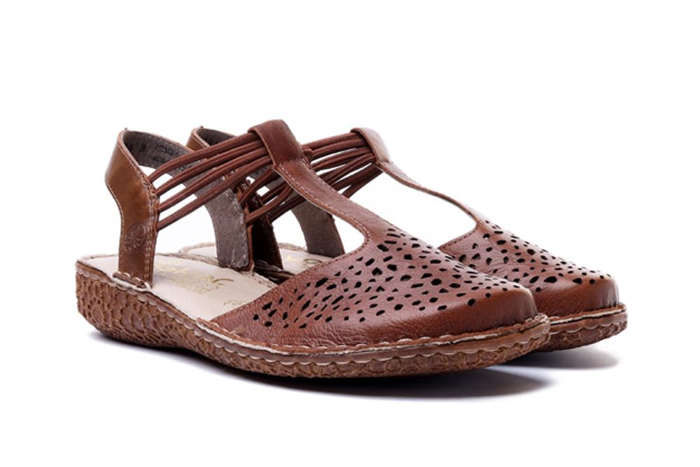RIEKER M0976-22 brown, sandały damskie, sklep internetowy e-kobi.pl