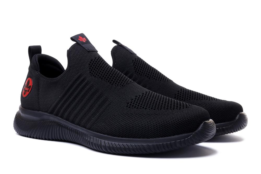 RIEKER B7465-00 sneaker black, półbuty męskie, sklep internetowy e-kobi.pl